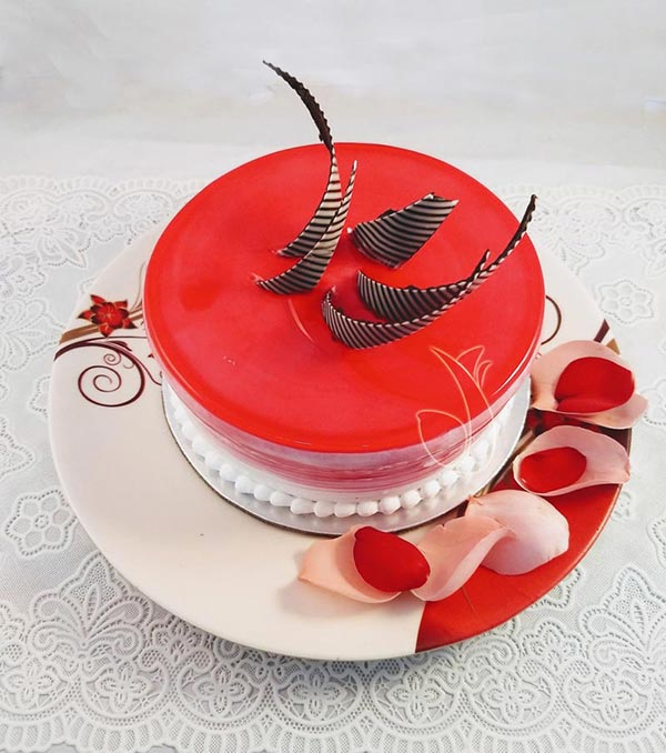 Strawberry Jelly Cake cake delivery Delhi