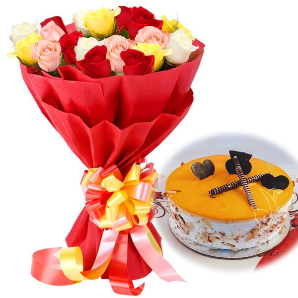 Mix Rose & Mango Magic cake delivery Delhi