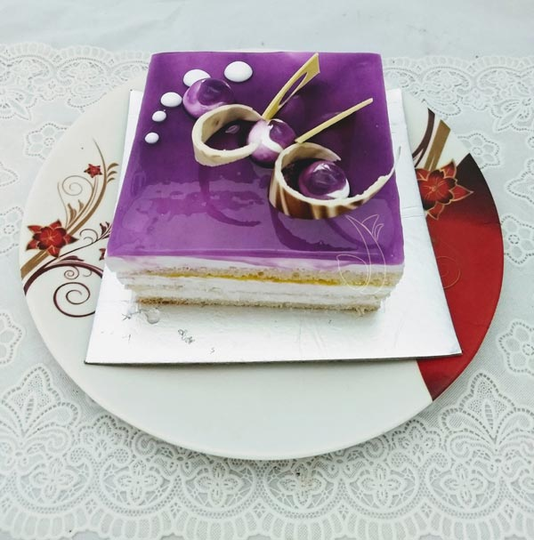 Blueberry Square Cake (Less Creamy) cake delivery Delhi