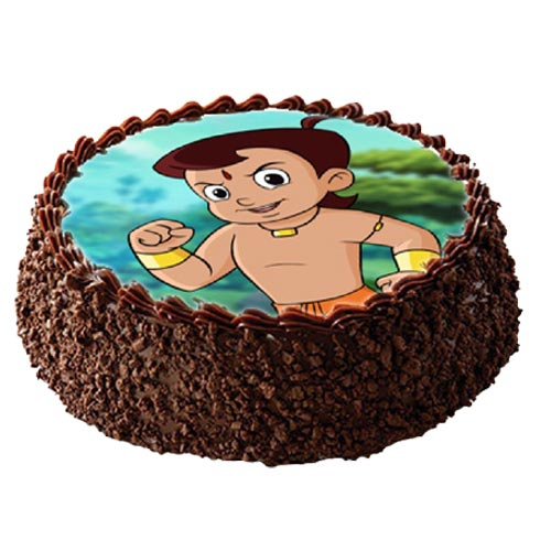 1Kg Chota Bheem Photo Cake cake delivery Delhi