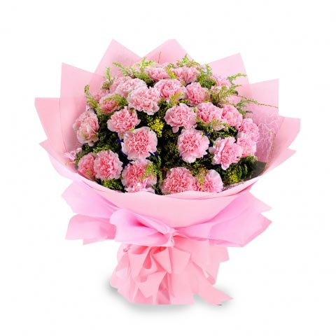 Pink Carnation Bunch cake delivery Delhi