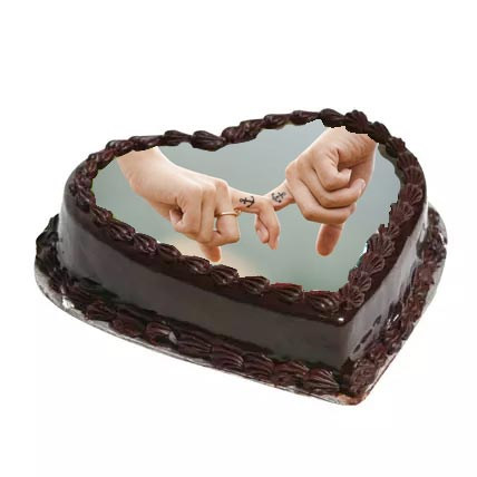 1kg Heartshape Photo Cake cake delivery Delhi