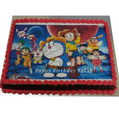 1Kg Doremon Nobita Photo Cake cake delivery Delhi