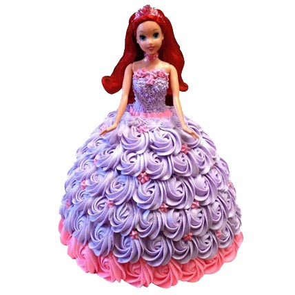 Barbie in Roses Cake 2kg cake delivery Delhi