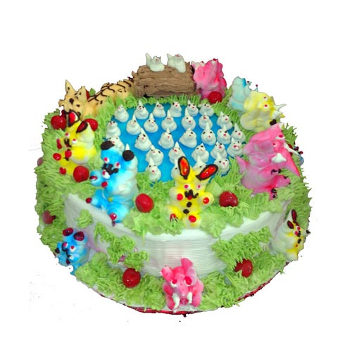 Jungle Theme Cream Cake cake delivery Delhi