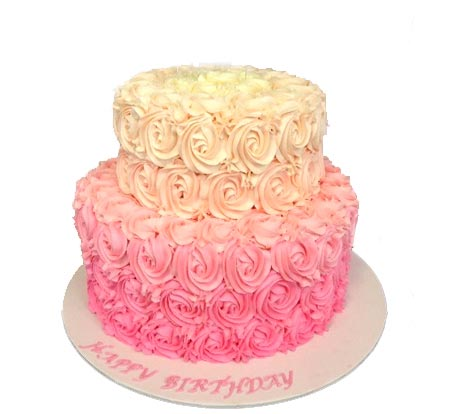 2 layer Roses Cake in 3Kg  cake delivery Delhi
