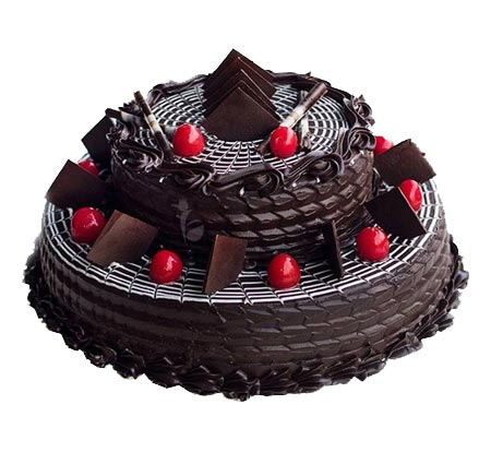 3 Kg 2 tier Dark Cake cake delivery Delhi