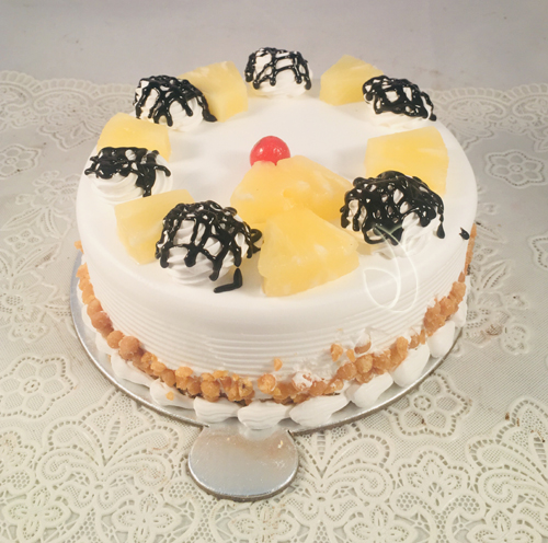 Round Pineapple Cake cake delivery Delhi