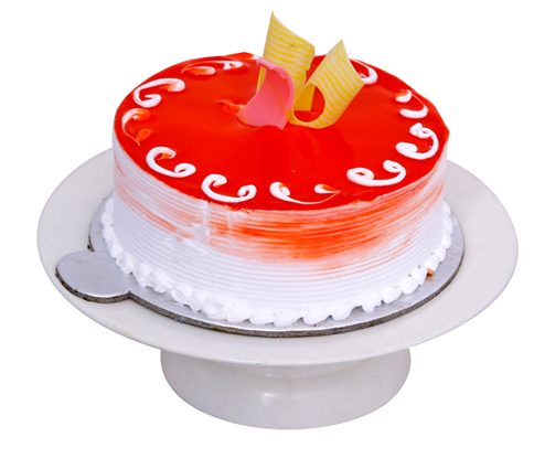 Round Strawberry Cake Delivery Delhi