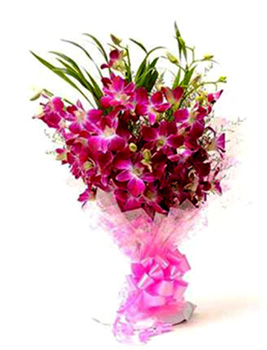 Bunch of 10 Purple Orchid Bunch  cake delivery Delhi