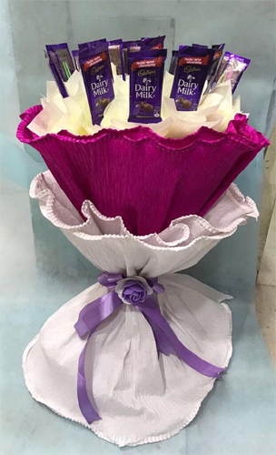 Chocolate Bouquet in Paper Wrapping cake delivery Delhi