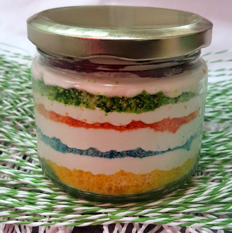 Rainbow Jar Cake (Only For Delhi) cake delivery Delhi