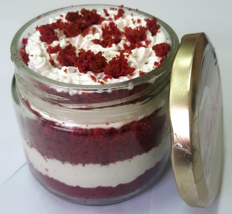 Red Velvet Jar Cake (Only For Delhi) cake delivery Delhi