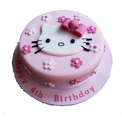Hello Kitty Fondant Cake Delivery Delhi