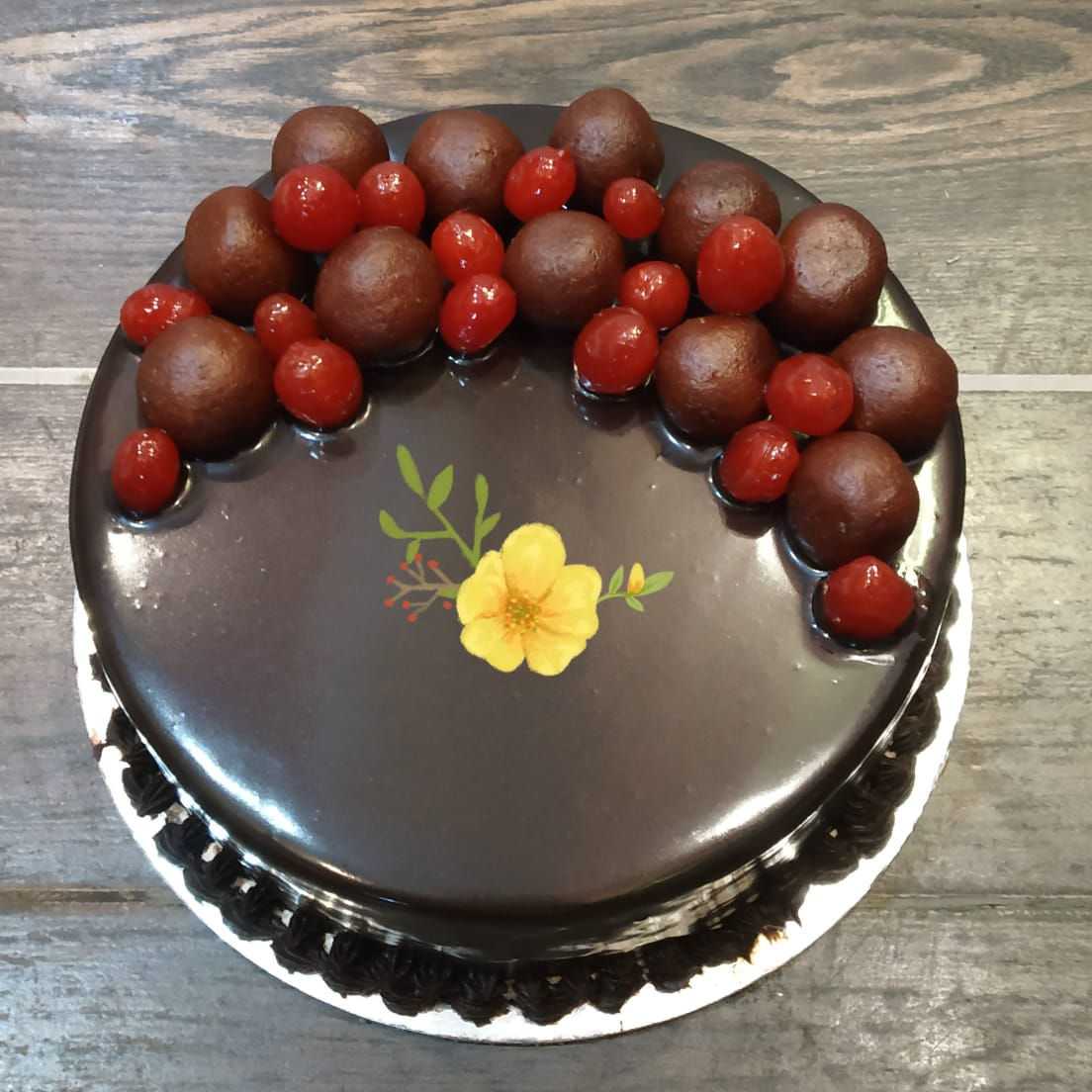 1KG Chocolate Gulab Jamun Cake cake delivery Delhi