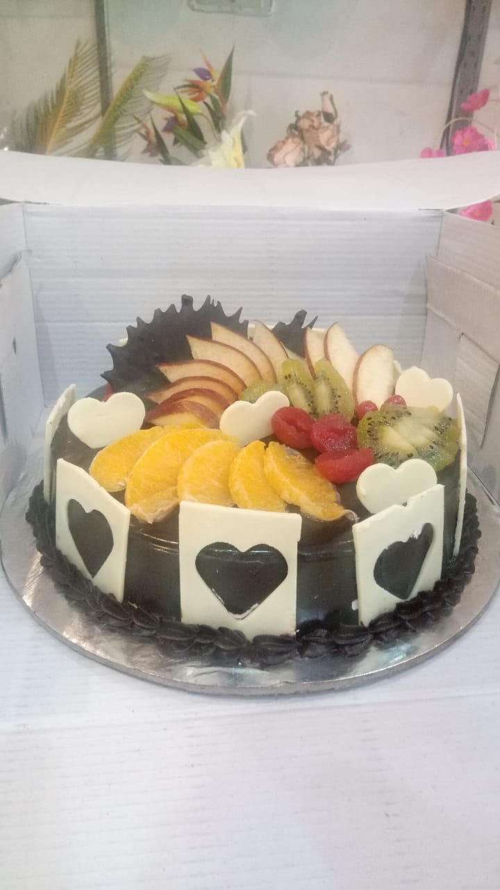 1Kg Fruit Chocolate Cake cake delivery Delhi