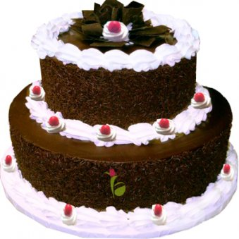 2 Tier Black Forest Cake cake delivery Delhi