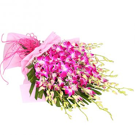 Bunch of 15 Orchids in Paper Packing cake delivery Delhi