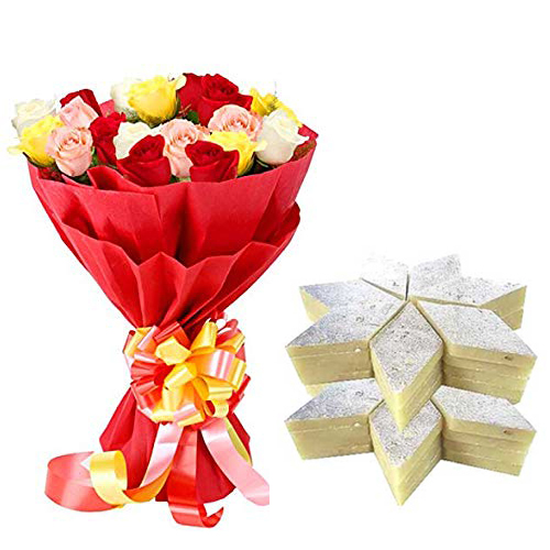Bunch & Kaju Burfi cake delivery Delhi