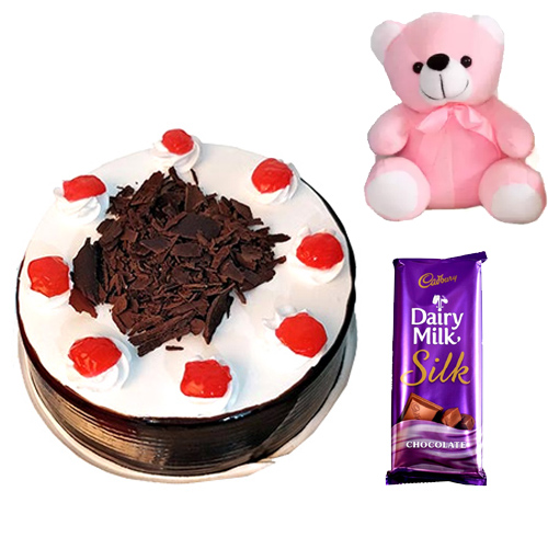 Cake & Teddy & Chocolate cake delivery Delhi
