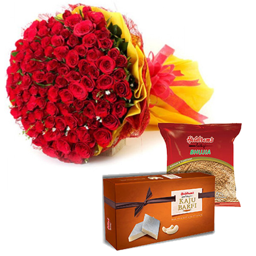 Bunch & Sweet & Haldiram Namkeen Pack cake delivery Delhi