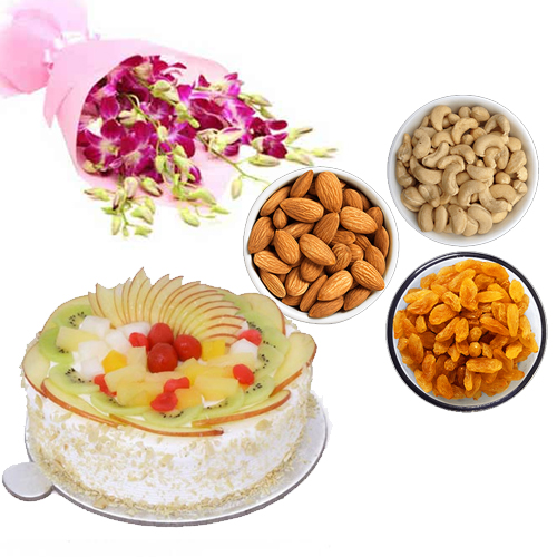 Orchids & Dry - Fruits & Fruit Cake cake delivery Delhi