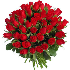 Hand Bunch of 50 Roses cake delivery Delhi