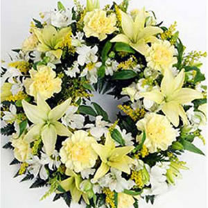 Mixed Exotic Flowers Wreath cake delivery Delhi