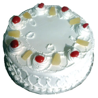 1/2 kg pine apple cake -Cake delivery to Gwalior