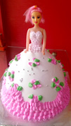 3kg Barbie Doll Cake