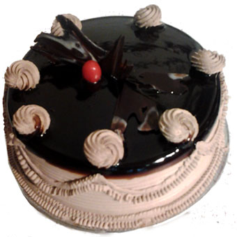 1kg Plain Chocolate Cake-Cake delivery to Gwalior