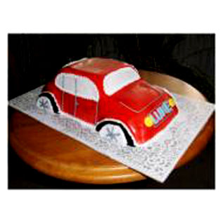 3kg Car Shape Cake-Cake delivery to Gwalior