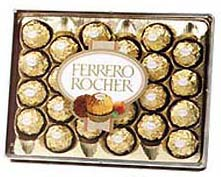 Mouth watering Ferrero Rocher 24 Pcs. cake delivery Delhi