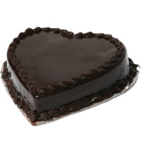 1kg Heart Shape Chocolate Truffle Cake Eggless cake delivery Delhi