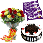 flowers cakes chocolates combo to india