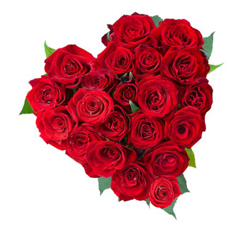 Heart shape arrangement of 30red roses  cake delivery Delhi