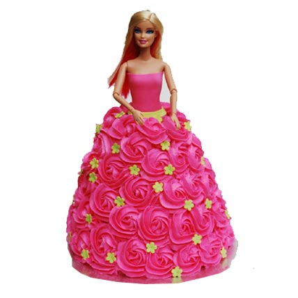 2kg Barbie Doll Cake cake delivery Delhi