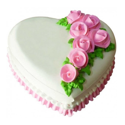 1kg Heart Shape Pineapple Cake cake delivery Delhi