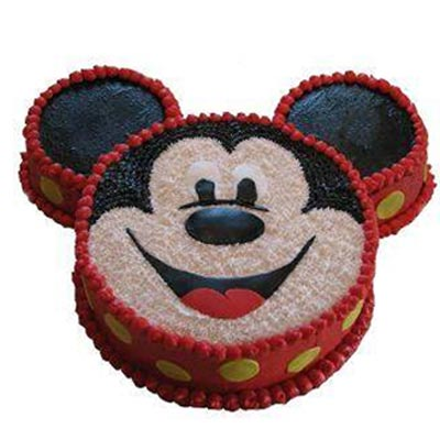 3kg Micky Mouse Face Cake cake delivery Delhi