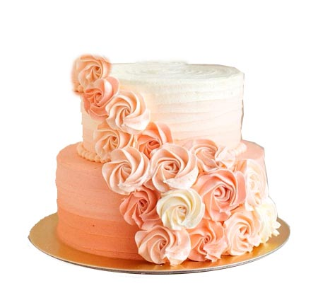 3Kg 2 Tier Peach Cream Cake cake delivery Delhi