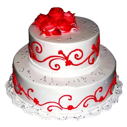 3Kg 2 Tier Wedding Cake cake delivery Delhi
